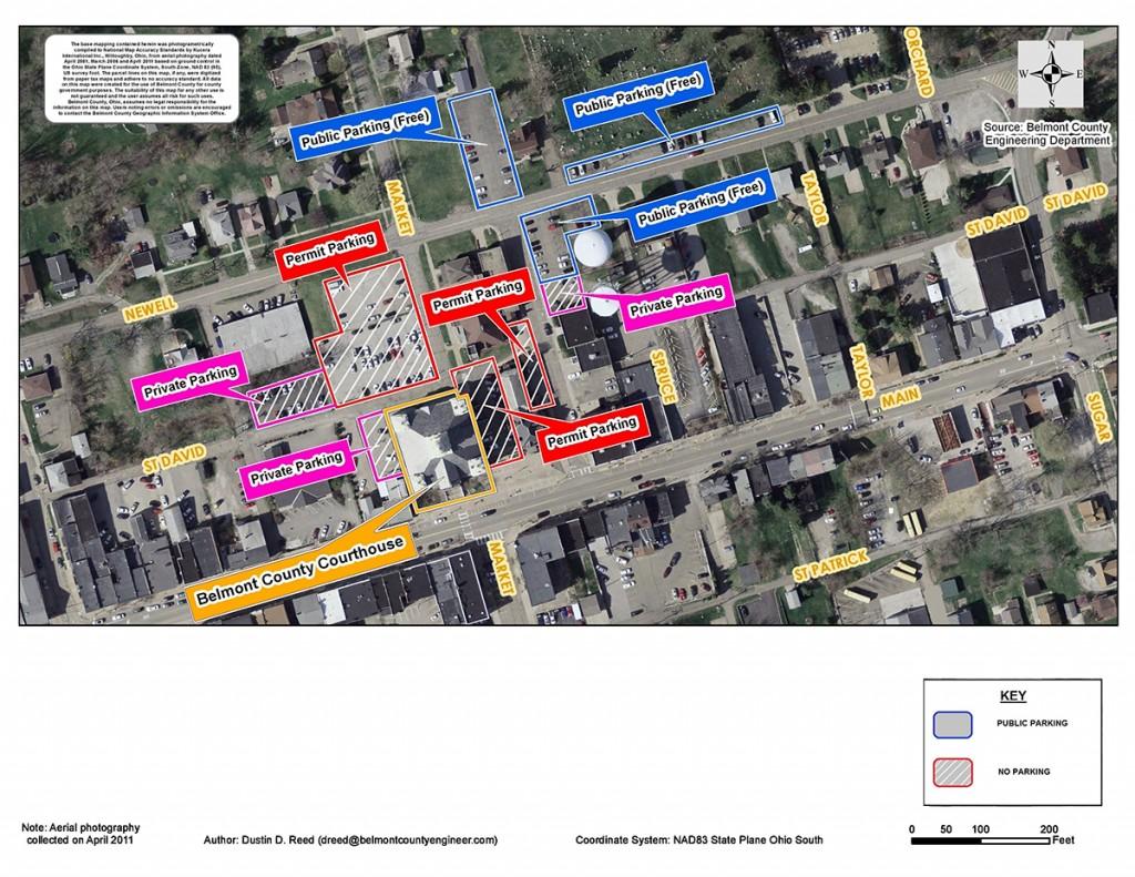 Jury Parking Map